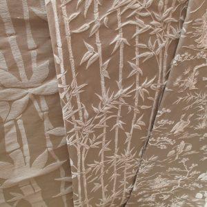 lampassi Bambù e damasco Chinoiserie